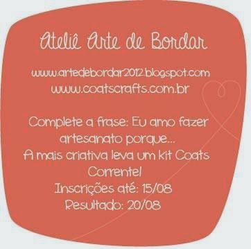 concurso no blog ateliê arte de bordar