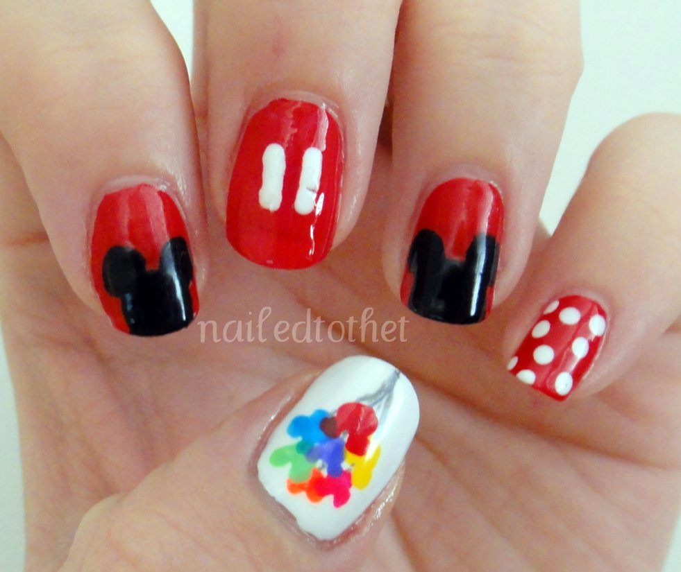 Disney Nail Art: Nailed To The T: Disney Nail Art Mani