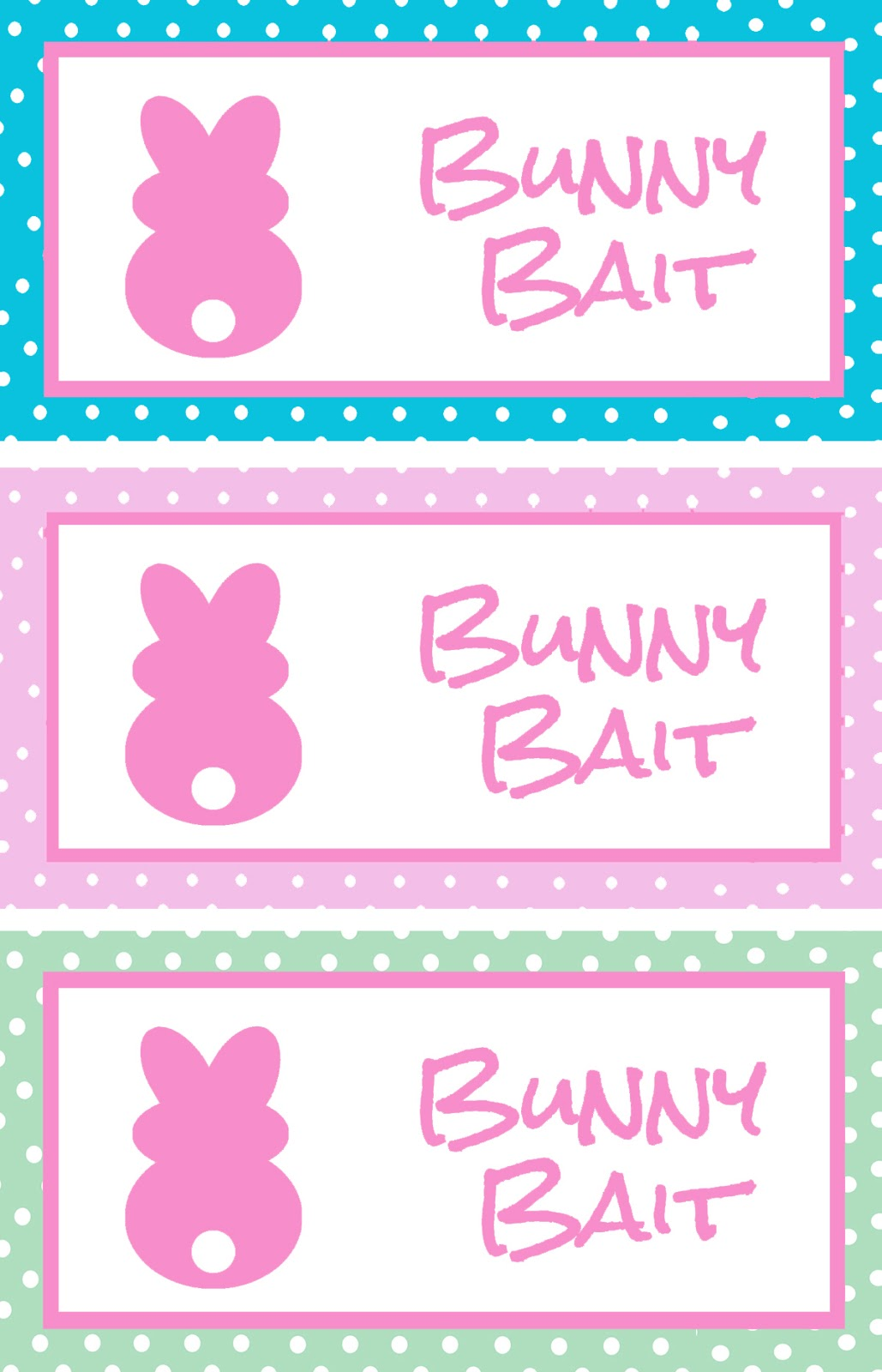 It is a photo of Persnickety Bunny Bait Printable