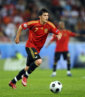 David Villa   Spanish Striker