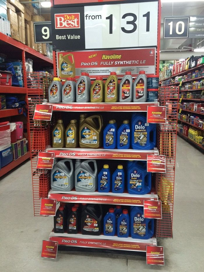 Delo, Havoline and other Caltex lubricants now available in select Handyman stores nationwide