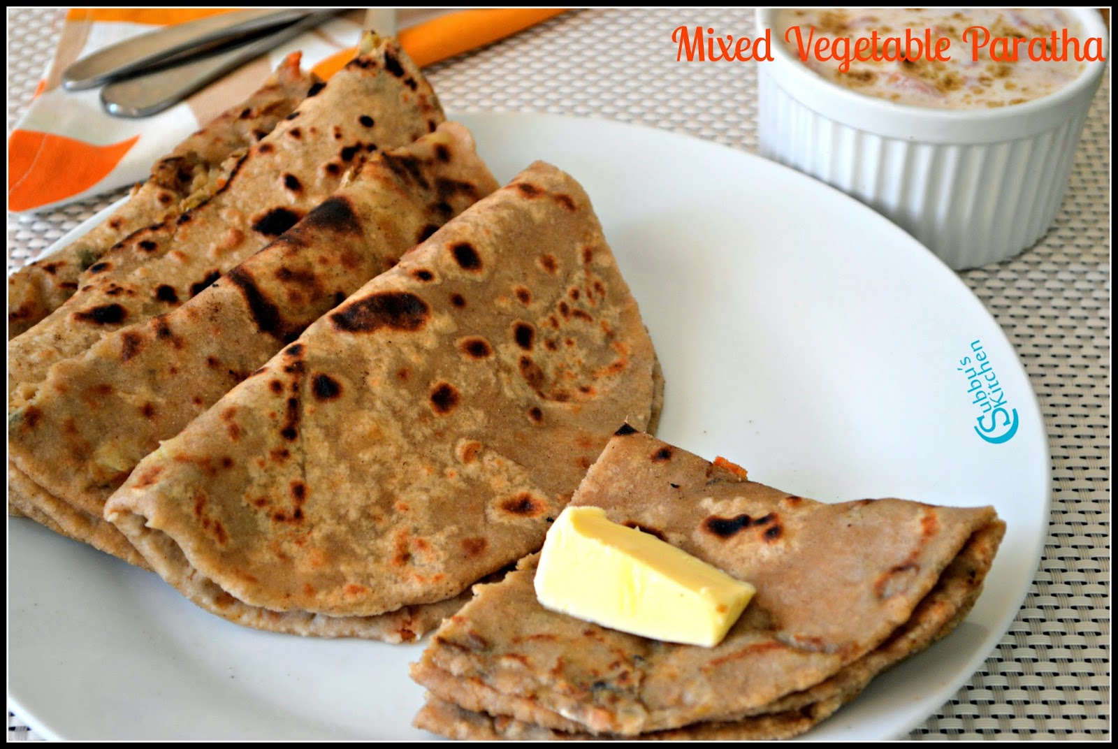 Mixed Vegetable Paratha Recipe | Subbus Kitchen