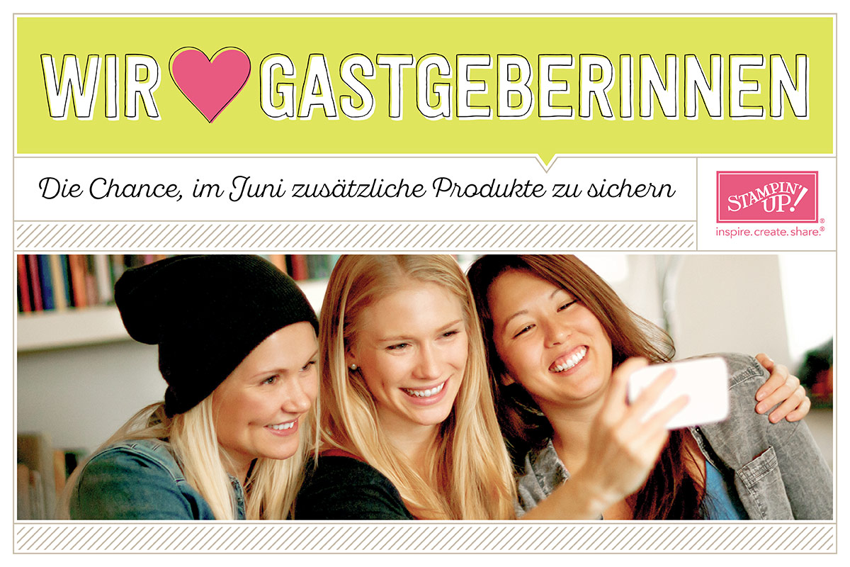 """Shopping-Aktion """"Wir lieben Gastgeberinnen"""""""