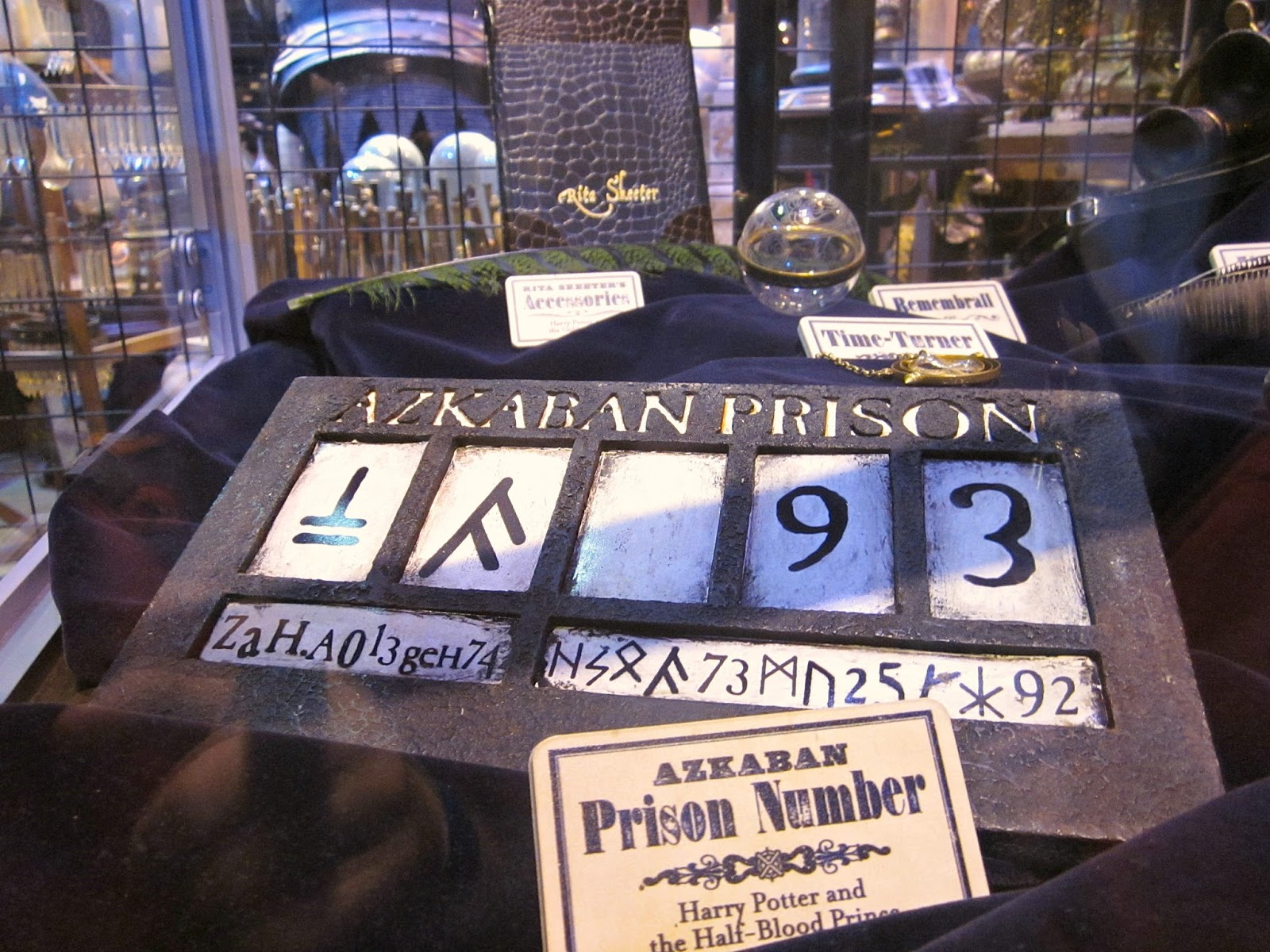 Sirius Black's Prisoner Number at The Making Of Harry Potter Warner Brothers Studio Tour