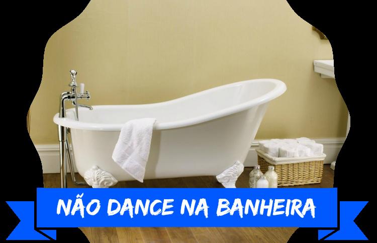 dança sensual na banheira
