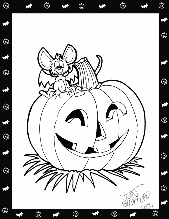 6 Picture Of Halloween Pumpkin Coloring Pages For Kids