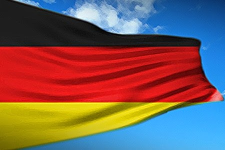 The German flag, die deutsche Flagge
