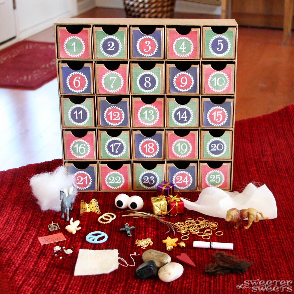 Sweeterthansweets advent calendar teach the true story for Diy christmas advent calendar ideas