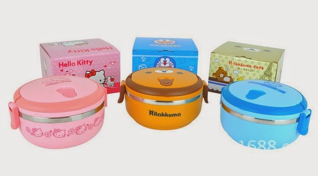 Lunch Box Stainless Stell Hello Kitty Rilakuma Doraemon