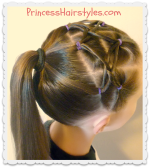 Cute hairstyle for gymnastics, woven twist headband