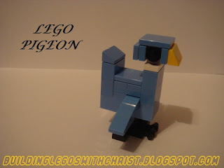 You Can Build It!  Instructional LEGO Pigeon, Inspired by Mo Willems Books