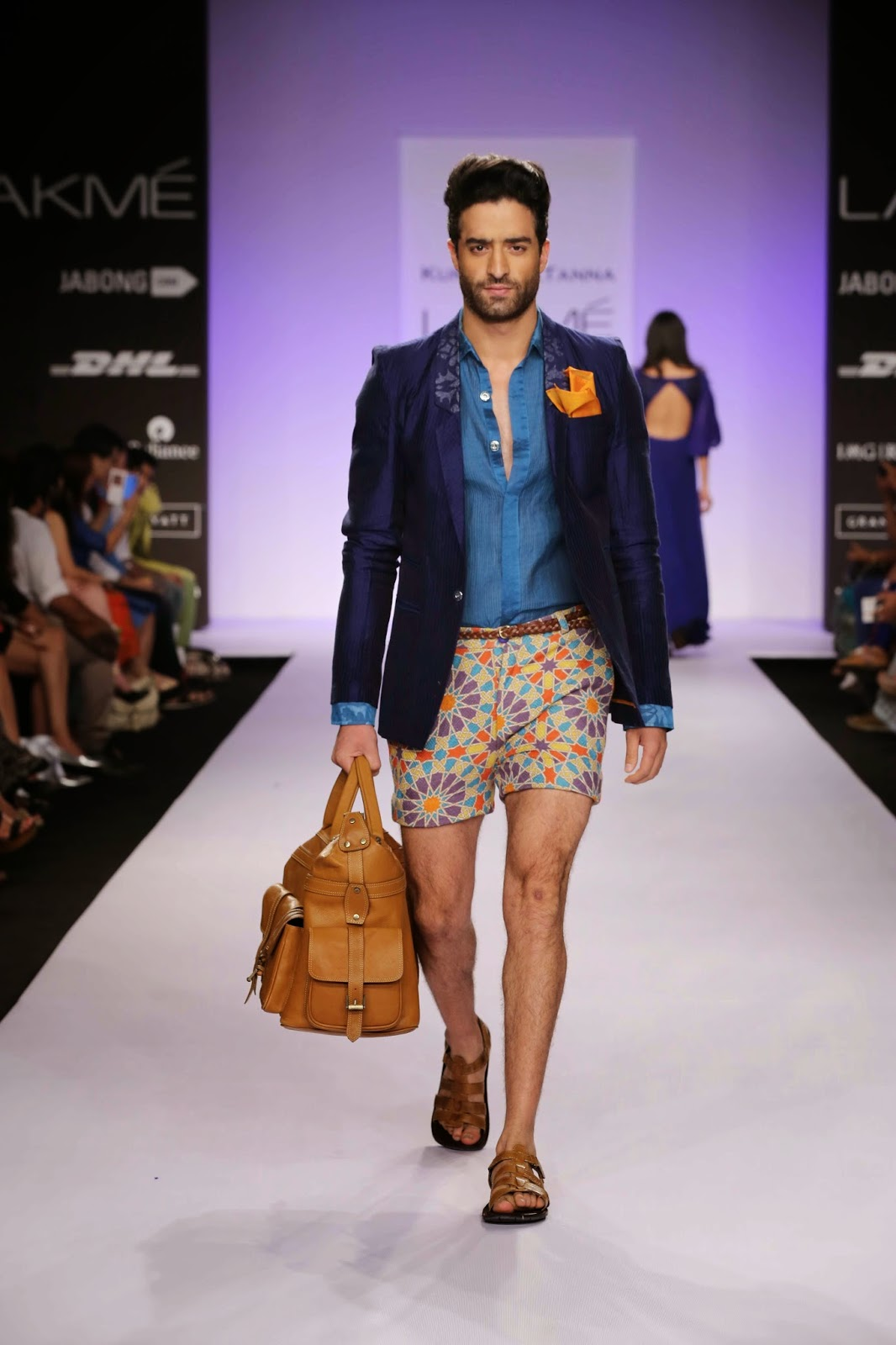 "With blue pottery from the rich cultural Pink City of Jaipur as the inspiration, Kunal Anil Tanna's collection called ""Indigo Summer"" at Lakmé Fashion Week Summer/Resort 2014 was an interesting mélange of classic construction and awesome silhouettes."
