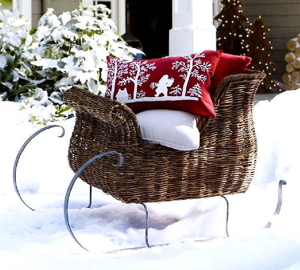 Animated outdoor christmas decorations - Gallery For Gt Outdoor Christmas Santa Sleigh
