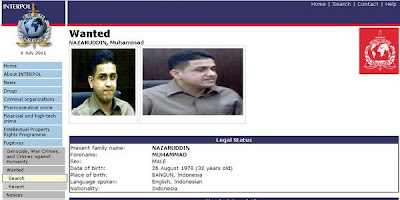 Muhammad Nazaruddin listed in Interpol's Red Notice