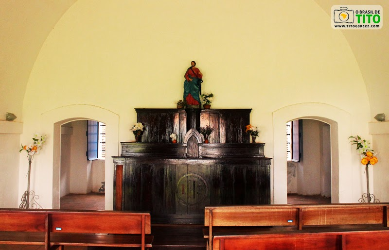 Interior da capela da Fortaleza de São José de Macapá, no Amapá