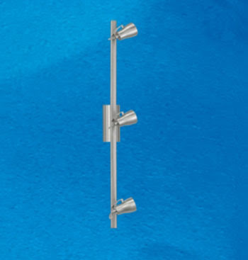 Wall Elo 86233 three spotlight on a track bar in satin nickel 50W GU10
