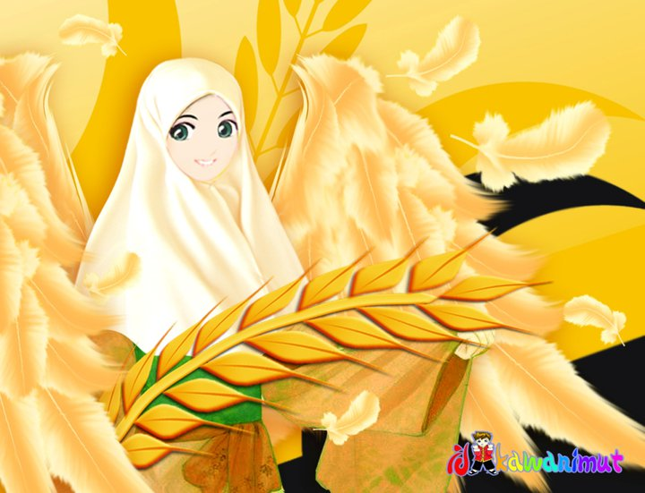 Anime Bidadari Cantik Pelangi Indiee Gallery Gambar Kartun Muslimah