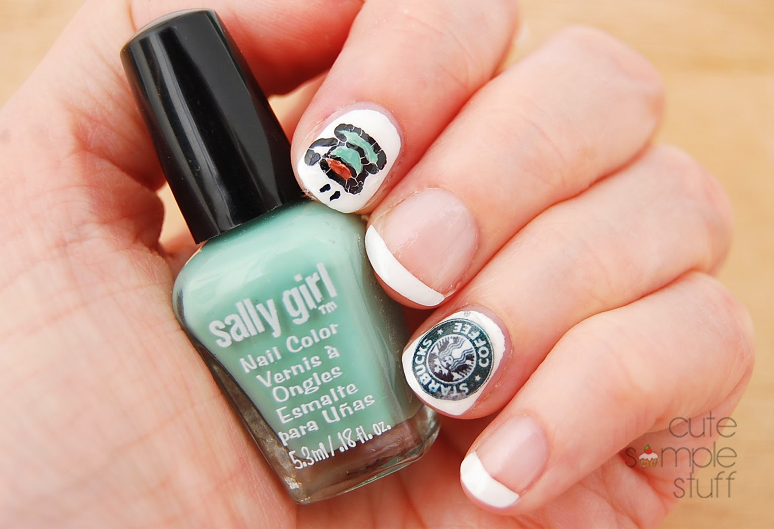 CUTE SIMPLE STUFF: Monday Mani: Starbucks Coffee Inspired Nails {2-in-1}
