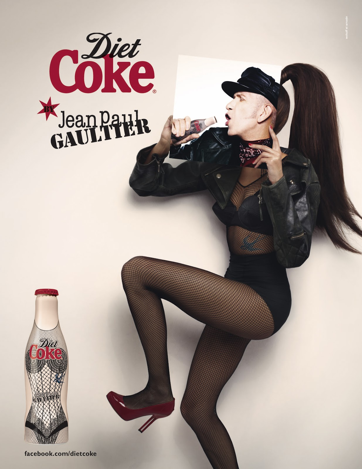 jean paul gaultier coca cola light diet coke campagna pubblicitaria