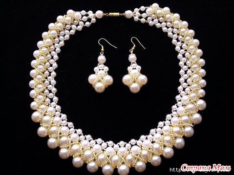 Ожерелье своими руками: плетение бусин из жемчуга 21