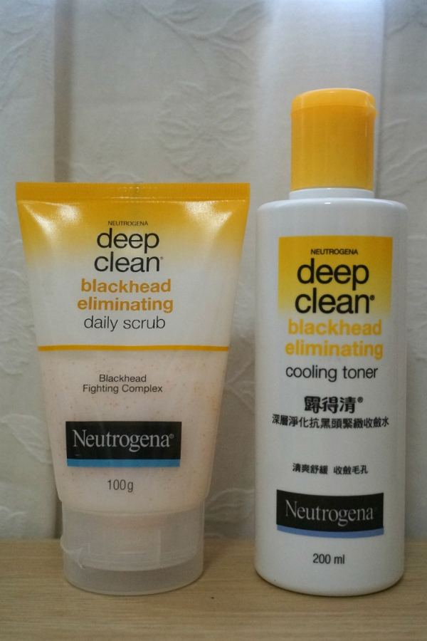 Neutrogena Deep Clean  Blackhead Eliminating Daily Scrub & Cooling Toner