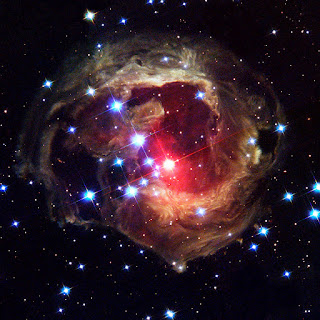 Red Variable Star V838 Monocerotis as seen by Hubble