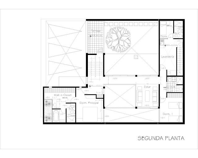 La forma moderna en latinoam rica casas patio 2 parte - Planos de casas con patio interior ...
