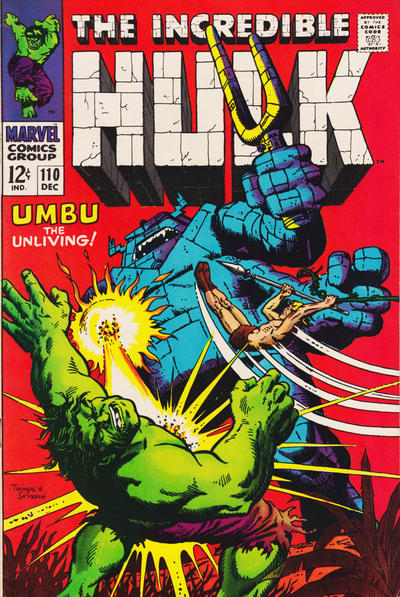 Incredible Hulk #110, Umbu, Ka-Zar and Zabu