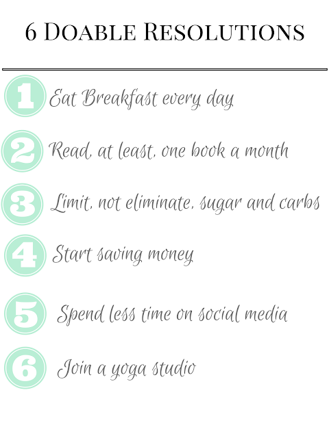 6 Totally Doable New Years Resolutions http://www.postgradandgingham.com