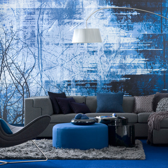 Blue Grey Living Room : ... of my new favorite color schemes. Blue and gray. Architects for Life