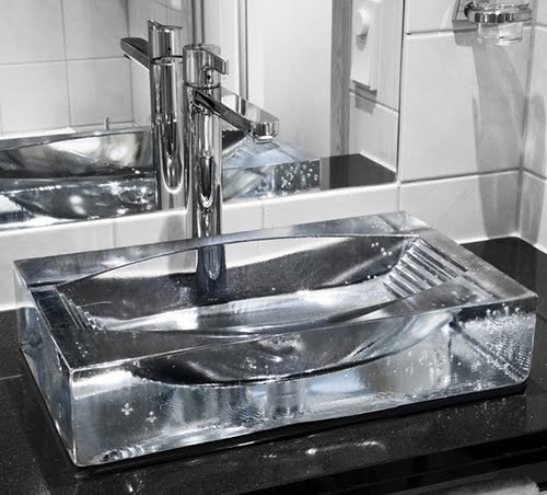 If Its Hip, Its Here (Archives) Glass Sink Basin Options With Fish -> Kit Acessorios Pia De Banheiro