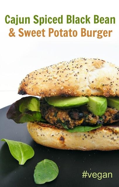 Cajun Spiced Black Bean and Sweet Potato Burgers - Tinned Tomatoes