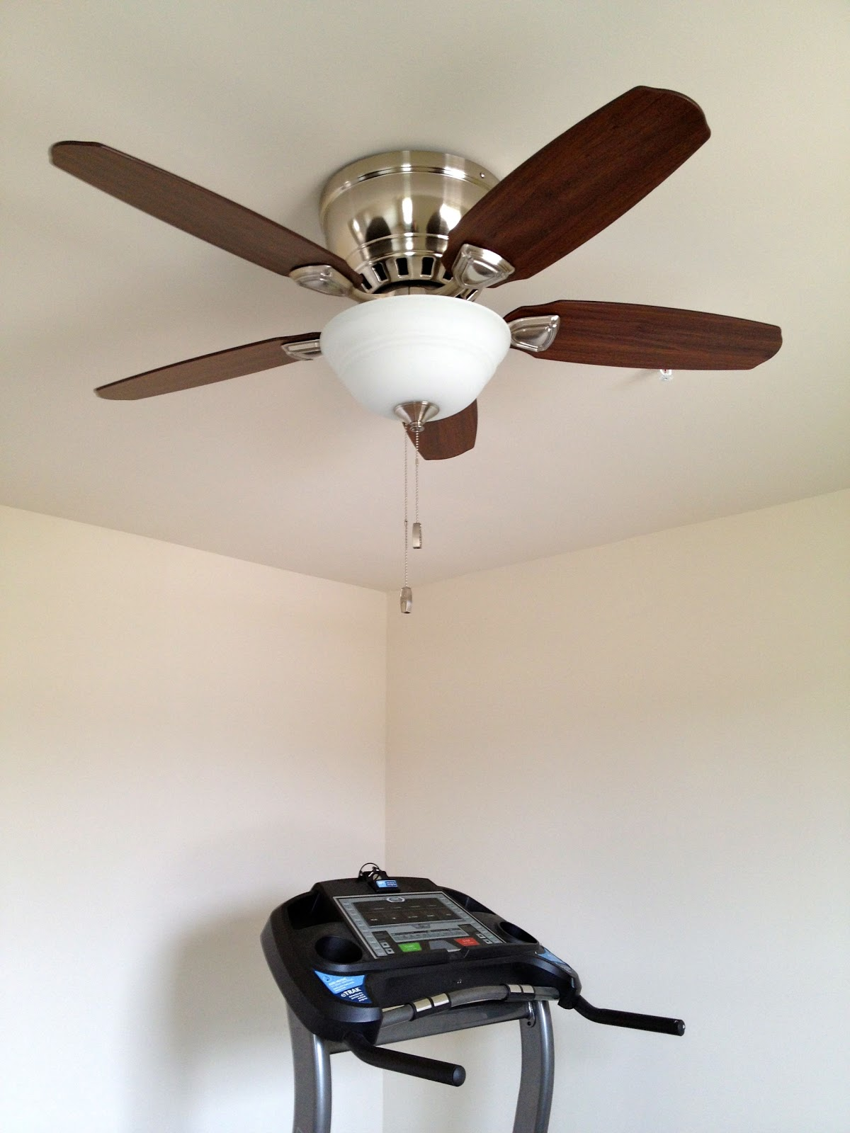 Ceiling fans and chandelier installed