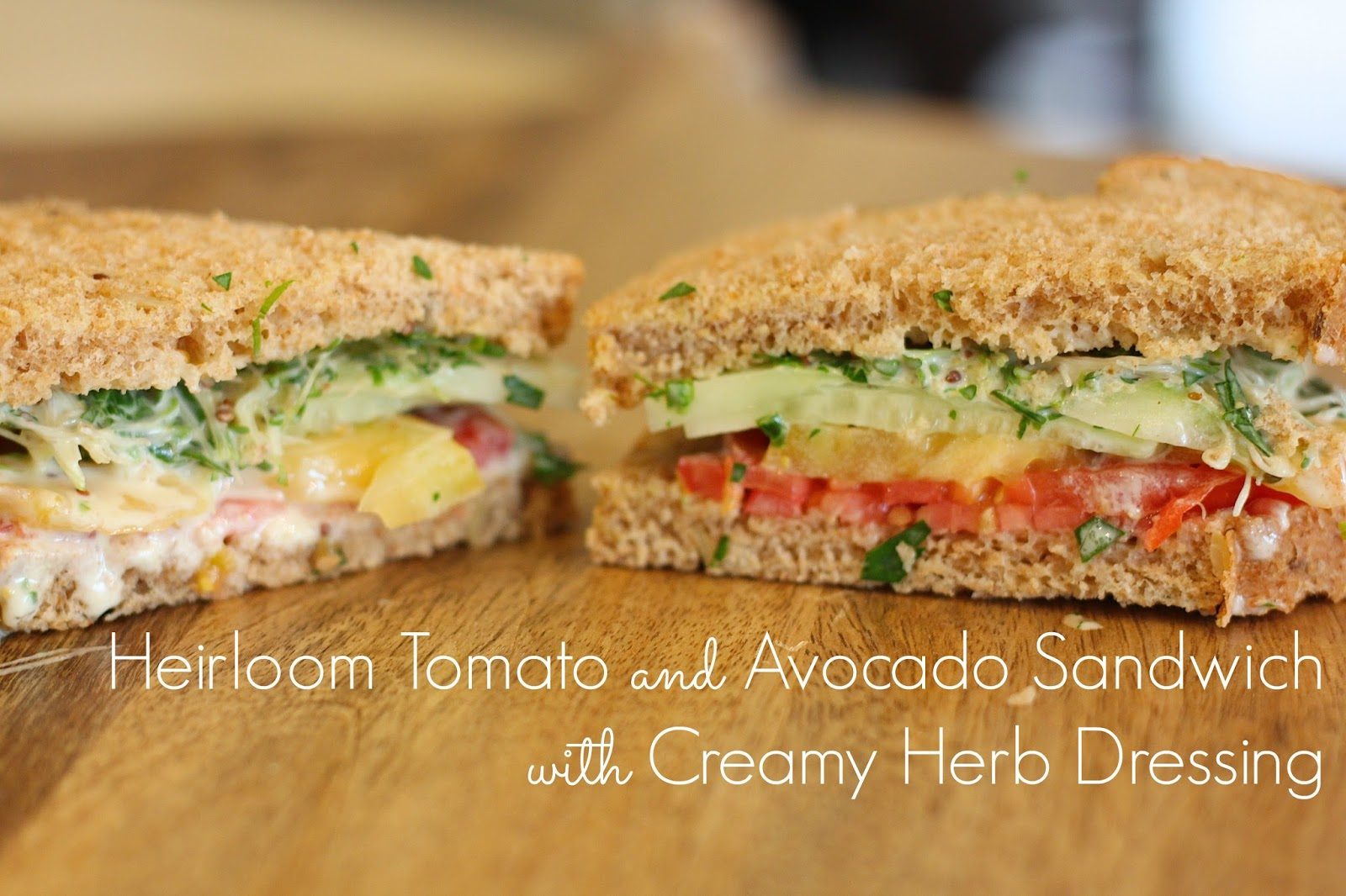 ... and Avocado Sandwich with Creamy Herb Dressing - Naturally Mindful