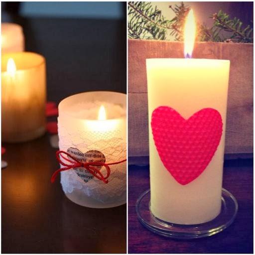 walentynki, dekoracje walentynkowe, serce, serduszka, świeczka, świecznik