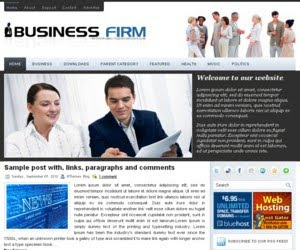 Business Firm Blogger Template