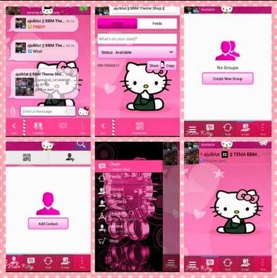 FREE BBM Mod Thema HelloKitty Apk V2.6.0.30