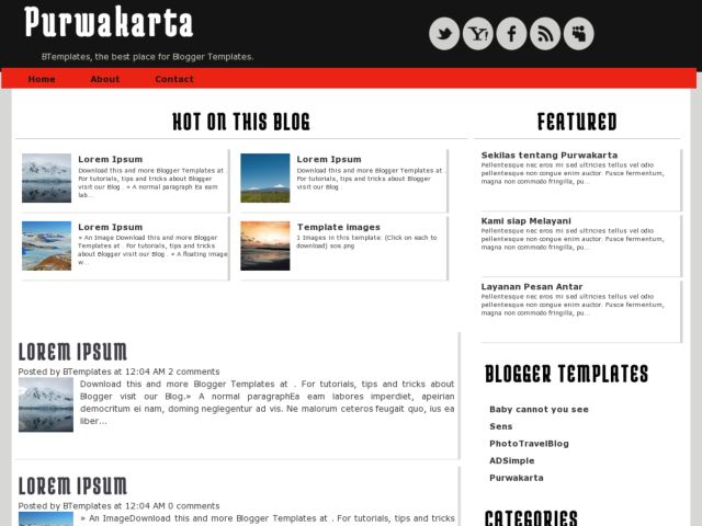 Purwakarta Blogger Template