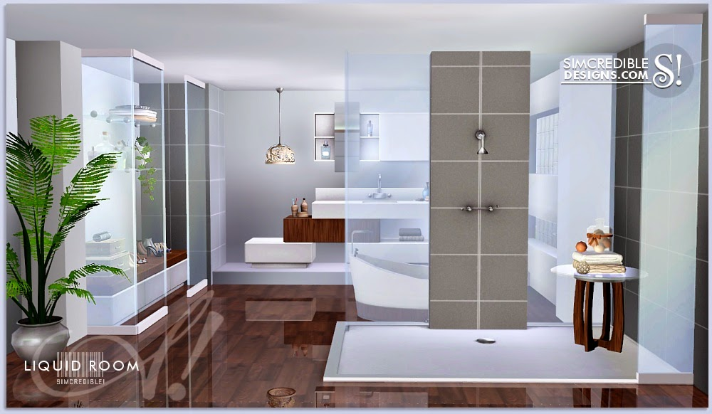 My sims 3 blog liquid room bathroom set by simcredible for Bathroom ideas sims 3