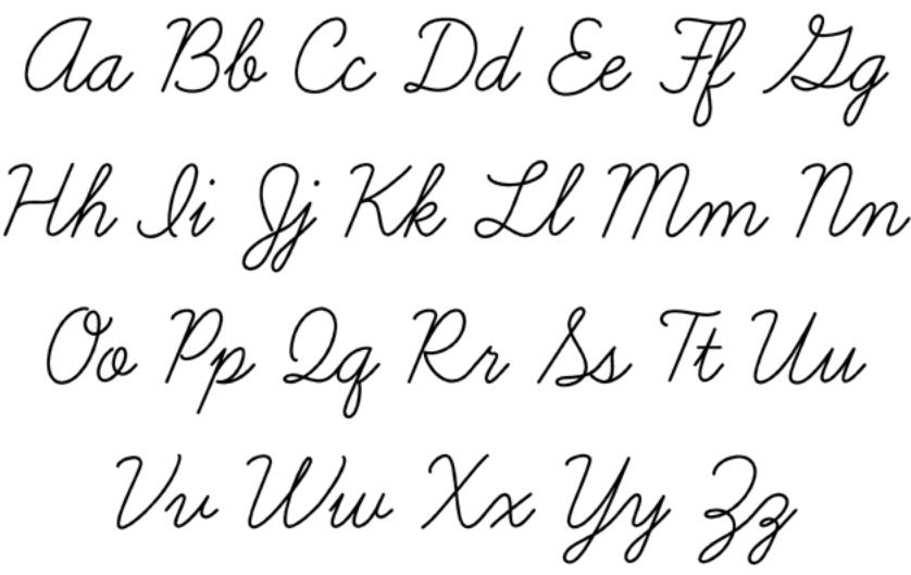 Title Cursive Script Handwriting