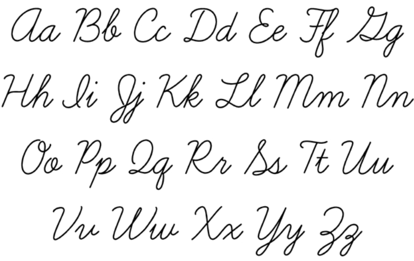 Cursive Script Handwriting Hand Writing