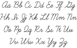 Cursive Script Handwriting