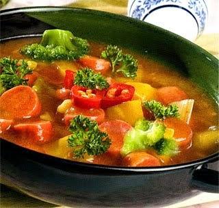 Resep brokoli tumis sosis, cara membuat brokoli tumis sosis, brokoli tumis sosis enak