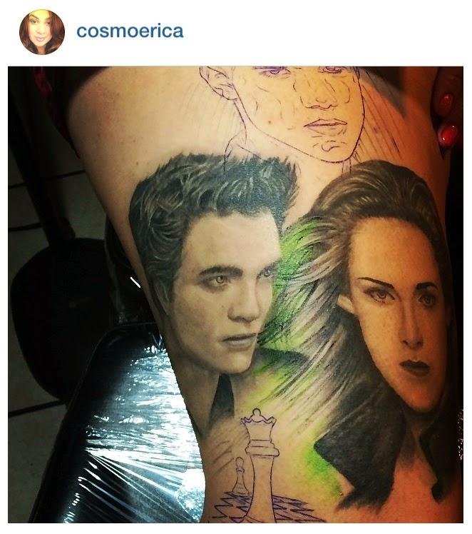 Twilight saga inspired tattoos edward jacob bella portrait for Twilight movie tattoo