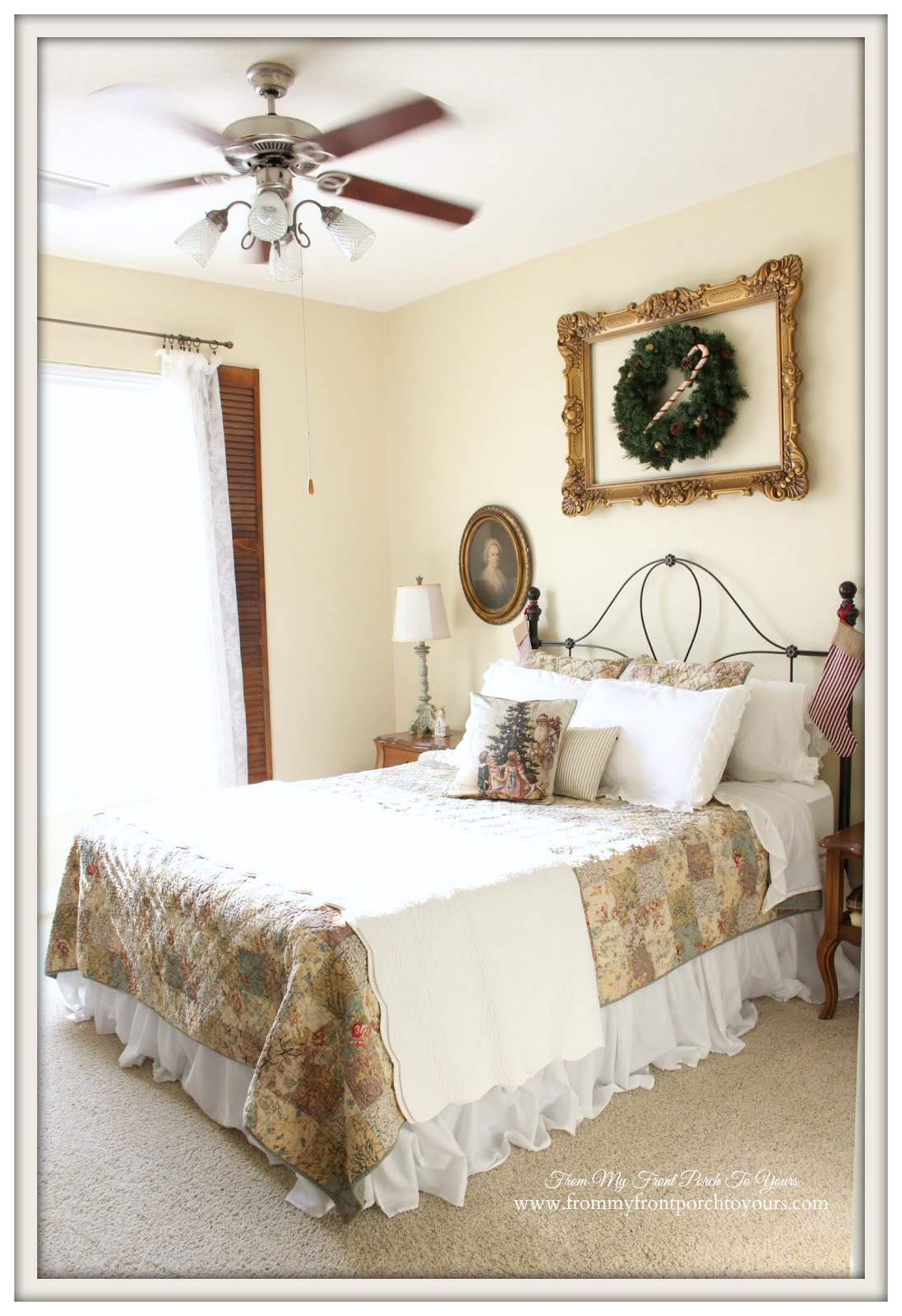 from my front porch to yours simple touches of christmas guest christmas guest bedroom farmhouse cottage style from my front porch to yours