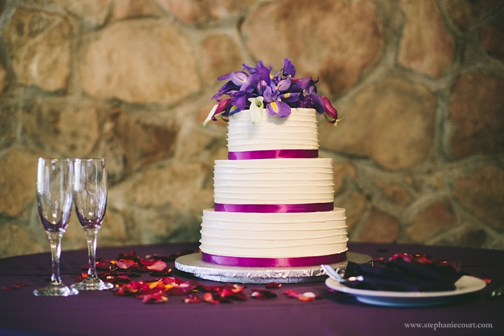 """""""purple iris wedding cake"""""""
