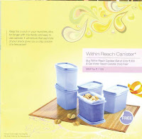 Tupperware Withtin Reach Canister 4+1
