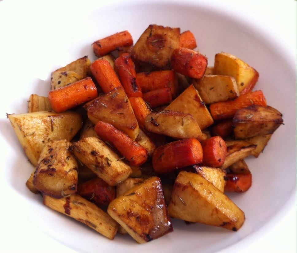 ... .com : Roasted Root Vegetables with Pomegranate Glaze