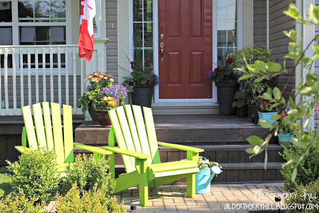 1 PM091 Im Lovin Lime Green Adirondack Chairs