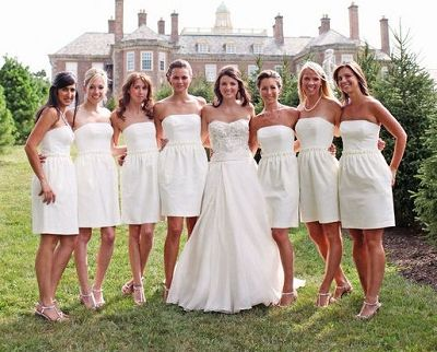 White Bridal Party Dress